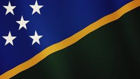 Ζωτικότητα κυματισμού σημαιών των νήσων του Σολομώντος Πλήρης οθόνη Σύμβολο της χώρας διανυσματική απεικόνιση