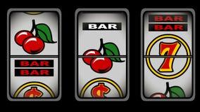 Ζωτικότητα μηχανημάτων τυχερών παιχνιδιών με κέρματα διανυσματική απεικόνιση