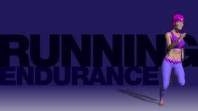 Ζωτικότητα - νέα γυναίκα που τρέχει στη γυμναστική - ορμή E διανυσματική απεικόνιση