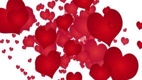 Ζωτικότητα που γίνεται με τις κόκκινες καρδιές στο άσπρο bacground απεικόνιση αποθεμάτων