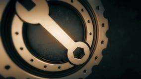 Ζωτικότητα πυράκτωσης εργαλείων, cogwheel και γαλλικών κλειδιών με το σχήμα PNG με το ΆΛΦΑ κανάλι διαφάνειας διανυσματική απεικόνιση