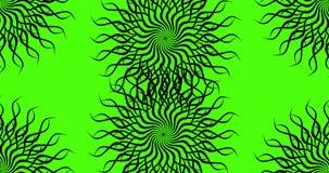 Ζωτικότητα σε ένα πράσινο υπόβαθρο Πράσινο υπόβαθρο για το chromakey Τηλεοπτικό στοιχείο ζωτικότητας υπό μορφή μαύρου πλαισίου απόθεμα βίντεο