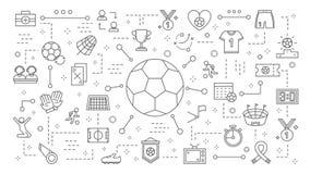 Ζωτικότητα σφαιρών ποδοσφαίρου ελεύθερη απεικόνιση δικαιώματος