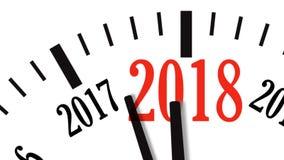 Ζωτικότητα της αντίστροφης μέτρησης ρολογιών από το έτος 2017 ως 2018 Βίντεο UltraHD 4K απεικόνιση αποθεμάτων