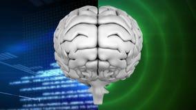 Ζωτικότητα της κορυφής του εγκεφάλου ενάντια σε έναν πίνακα εξόρμησης και να αναβοσβήσει έναν κύκλο διανυσματική απεικόνιση
