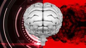 Ζωτικότητα της κορυφής του εγκεφάλου ενάντια σε μια επίδραση ακτινοβολιών και μελανιού διανυσματική απεικόνιση