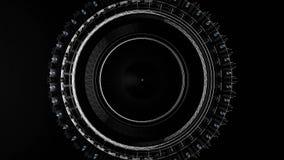 Ζωτικότητα του αφηρημένου τεχνολογικού κύκλου Φουτουριστική έννοια τεχνολογίας Φουτουριστικό διαστημικό αντικείμενο ελεύθερη απεικόνιση δικαιώματος