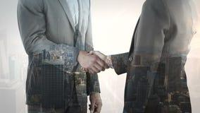 Ζωτικότητα του τινάγματος χεριών επιχειρηματιών απεικόνιση αποθεμάτων