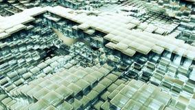 Ζωτικότητα του υγρού γυαλιού κυμάτων με τις ζωντανεψοντες αντανακλάσεις Ζωτικότητα Loopable φιλμ μικρού μήκους