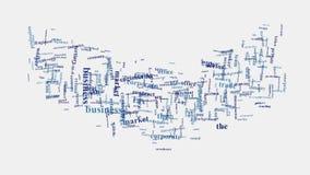 Ζωτικότητα τυπογραφίας σύννεφων λέξης διοίκησης επιχειρήσεων επιχείρησης κουνημάτων χεριών Στοκ Εικόνες