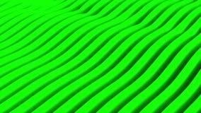 Ζωτικότητα των πράσινων κυμάτων Βρόχος σχεδίων υποβάθρου ελεύθερη απεικόνιση δικαιώματος