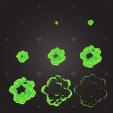 Ζωτικότητα φύλλων δαιμονίου έκρηξης κινούμενων σχεδίων chemicals στοκ φωτογραφίες