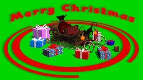 Ζωτικότητα Χαρούμενα Χριστούγεννας στην πράσινη οθόνη διανυσματική απεικόνιση