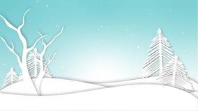 Ζωτικότητα χειμερινών τοπίων διανυσματική απεικόνιση