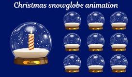 Ζωτικότητα Χριστουγέννων snowglobe Διανυσματική χιονιά Στοκ Φωτογραφίες