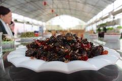 Ζωύφια που χρησιμεύονται ως τα τρόφιμα στην Κίνα Στοκ Εικόνα