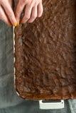 Ζύμη για την πίτα κολοκύθας στη μορφή για το ψήσιμο Στοκ φωτογραφία με δικαίωμα ελεύθερης χρήσης