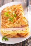 Ζύμη ριπών με το τυρί και το μπέϊκον Στοκ φωτογραφία με δικαίωμα ελεύθερης χρήσης