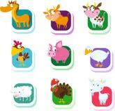 Ζώα αγροκτημάτων - διανυσματικό εικονίδιο διανυσματική απεικόνιση