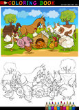 Ζώα αγροκτημάτων και ζωικού κεφαλαίου για το χρωματισμό Στοκ Φωτογραφίες