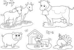 Ζώα αγροκτημάτων χρωματισμού 2 Στοκ Φωτογραφίες