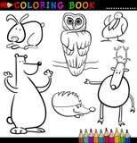 Ζώα για το χρωματισμό του βιβλίου ή της σελίδας Στοκ Φωτογραφία