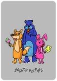 Ζώα γλυκών Στοκ εικόνες με δικαίωμα ελεύθερης χρήσης
