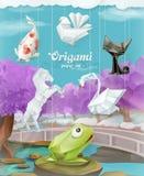 Ζώα εγγράφου Origami Στοκ φωτογραφία με δικαίωμα ελεύθερης χρήσης