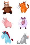 Ζώα καθορισμένα Στοκ Εικόνες