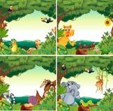 Ζώα και δάση απεικόνιση αποθεμάτων