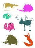 Ζώα κινούμενων σχεδίων Στοκ Εικόνες