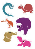 Ζώα κινούμενων σχεδίων Στοκ Εικόνα