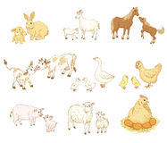Ζώα μωρών και μητέρων διανυσματική απεικόνιση