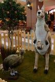 Ζώα, ο ζωολογικός κήπος με τα γεμισμένα ζώα στο γύρο στην Ιταλία Στοκ Φωτογραφία