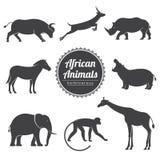 ζώα που τίθενται διανυσμ&al Στοκ εικόνα με δικαίωμα ελεύθερης χρήσης