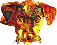 ζώα που χρωματίζονται στοκ εικόνες