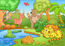 Ζώα στο δάσος. απεικόνιση αποθεμάτων