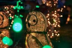 Ζώα φω'των Χαρούμενα Χριστούγεννας Στοκ εικόνα με δικαίωμα ελεύθερης χρήσης
