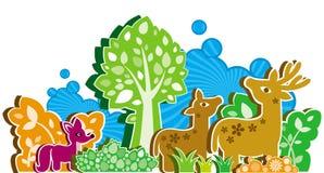 ζώα ύφους κινούμενων σχεδίων Ελεύθερη απεικόνιση δικαιώματος
