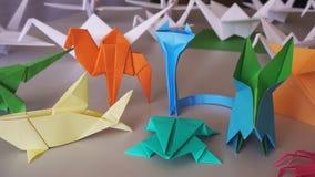 Ζώα Origami απόθεμα βίντεο