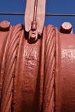 Ζώνες καλωδίων και κάθετα σχοινιά αναστολής που χρησιμοποιούνται για να διατηρήσουν το κύριο καλώδιο στη χρυσή γέφυρα πυλών, 2 Στοκ Εικόνα