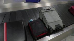 Ζώνη αξίωσης αποσκευών απόθεμα βίντεο