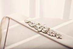 Ζώνη από το φόρεμα της νύφης με τις πέτρες Στοκ εικόνα με δικαίωμα ελεύθερης χρήσης