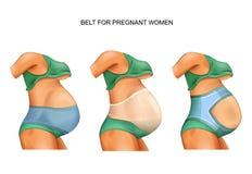 Ζώνη για τις εγκύους γυναίκες απεικόνιση αποθεμάτων