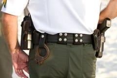 Ζώνη εξοπλισμού Policemans στοκ φωτογραφίες με δικαίωμα ελεύθερης χρήσης