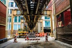 Ζώνη κατασκευής του Σικάγου στοκ εικόνες με δικαίωμα ελεύθερης χρήσης