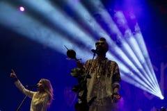 Ζώνη μαχητών κρυστάλλου στη συναυλία στο φεστιβάλ Dcode Στοκ εικόνα με δικαίωμα ελεύθερης χρήσης