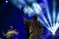 Ζώνη μαχητών κρυστάλλου στη συναυλία στο φεστιβάλ Dcode Στοκ Φωτογραφίες