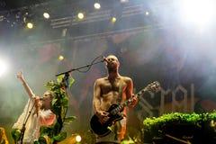 Ζώνη μαχητών κρυστάλλου στη συναυλία στο φεστιβάλ Dcode Στοκ φωτογραφία με δικαίωμα ελεύθερης χρήσης