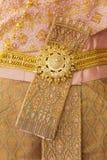 Ζώνη με το ταϊλανδικό φόρεμα Στοκ Εικόνες